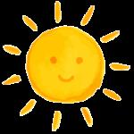 黄色い笑顔の太陽