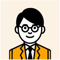 眼鏡をかけた若い男性のイラスト